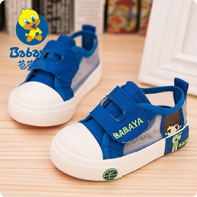 Summer casual brand casual cute solid simple canvas breathable mesh net sport toddle boys flat boy sneaker infant children shoes