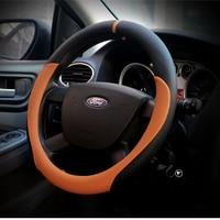 Micro Fiber Leather Car Steering Wheel Cover 38CM Car Styling Sport Steering Wheel Covers Auto