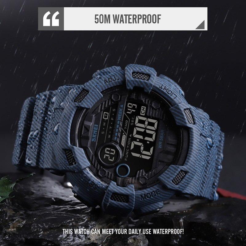 Nuevo reloj de pulsera deportivo Digital para hombre reloj de pulsera para hombre reloj despertador de dos horas reloj de moda para hombre marca superior SKMEI - 3