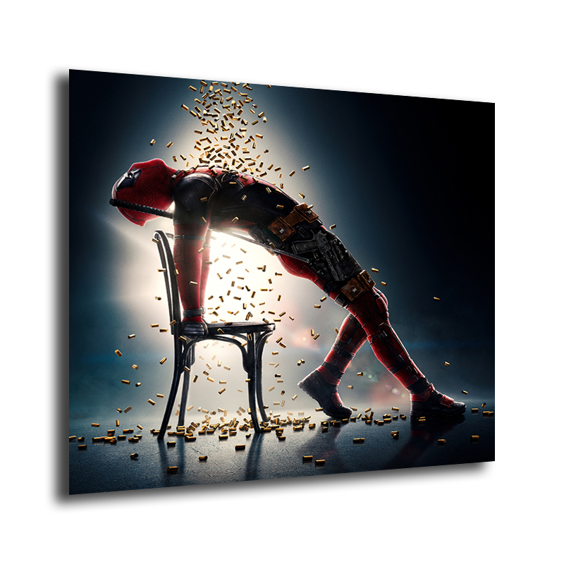 Marvel Deadpool poster wall decoration photo print 24x24 inches