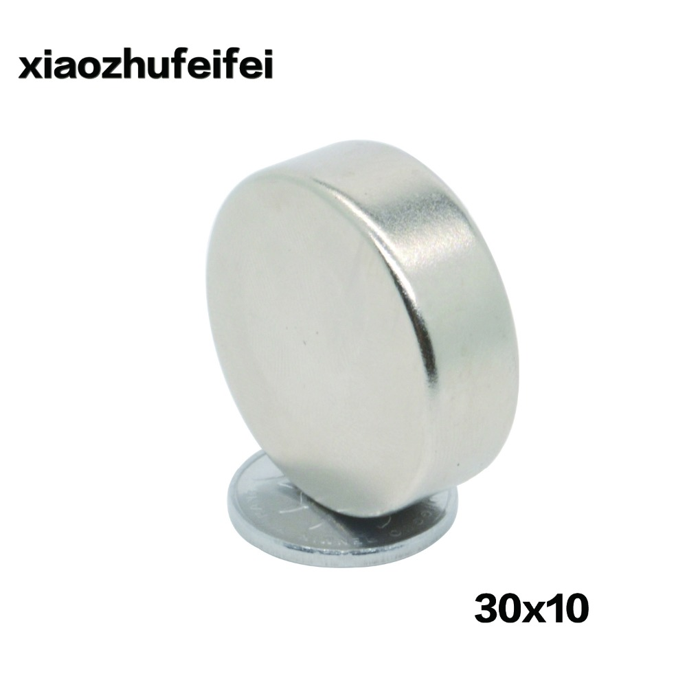 20pcs 30 10 30mm x 10mm Super Round Cylinder Neodymium Permanent Magnets 30x10 NEW Art Craft