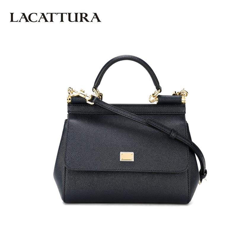 LACATTURA Дизайнерская кожаная сумка женская сумка через плечо с верхней ручкой сумка через плечо для леди модные напульсники