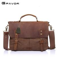 Vintage Canvas Handbags Men Shoulder Bag Crazy Horse Leather Casual Crossbody Bag Men S Travel Bags