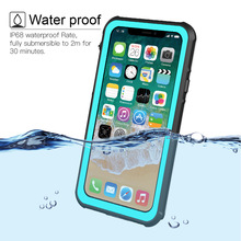 Waterproof Case Cover for iPhone X 7 7Plus IP68 Grade Test Outdoor Snowproof Shockproof Back