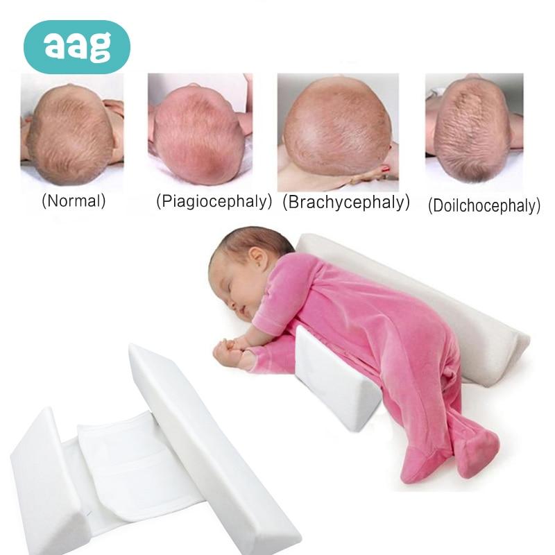 AAG Memory Foam Baby Pillows Breathable Newborn Shaping Pillow Sleep Positioner Prevent Flat Head Ergonomic Anti Roll Cushion