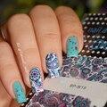 2 Padrões/Folha Blooming Flower Nail Art Transferência De Água Decalques Etiqueta BP-W19 NASCIDO BONITA #20610