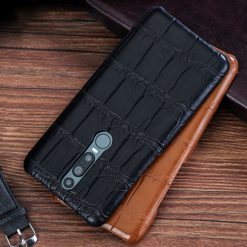 Genuine Crocodile Leather luxury cell phone case for Huawei Mate 20 30 P20 P30 Pro Lite Cover For Honor 20 Pro 10 10i v20 8x 9X - 3