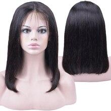 Короткие Кружева Передние Человеческие Волосы Боб Парики Плотность 150% Бразильские Прямые Волосы
