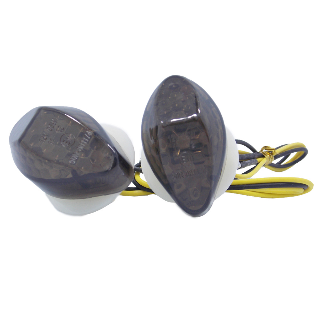Motorcycle Flush Mount LED Turn Signals Indicator Blinker Light Amber Flasher For Honda CBR 600 F4 F4i CBR600RR CBR1000RR