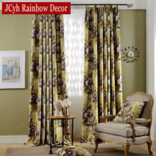 European Printed Floral Curtains Luxury Drapes Fabric Modern Window Blinds Curtain For Bedroom Gordijnen Rideaux Shading 80%