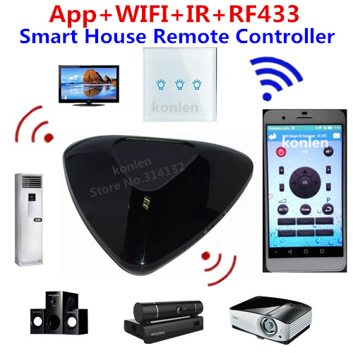 Android Ios Smart Home Automation Universal Remote Control Wifi Ir Rf433 Light Air Conditioner Ceiling Fan