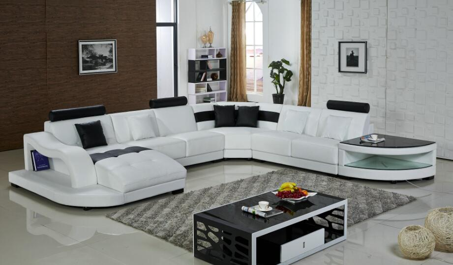 sectional sofa u shaped drexel declaration table leather corner sofas furniture in