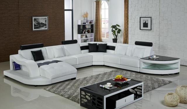 Leather Corner Sofas U Shaped Sofa Sectional Sofas Furniture