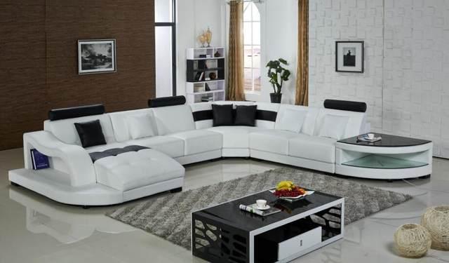 Tienda Online Sofás de cuero esquina sofá en forma de U sofás ...