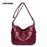 Best Special Offer New Bucket Quality Genuine Leather Women Handbags GLOWWORM Brand Tote Bag Plaid Top