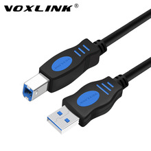 цена на VOXLINK USB 2.0 Print Cable Type A to B Male to Male Printer Cable 1m/1.8m /3m /5m For Camera Epson HP Printer