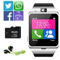 Gv18 smartwatch bluetooth smart watch para android ios telefone sim apoio tf cartão nfc 1.3 m câmera mp3 twitter, facebook, whatsapp