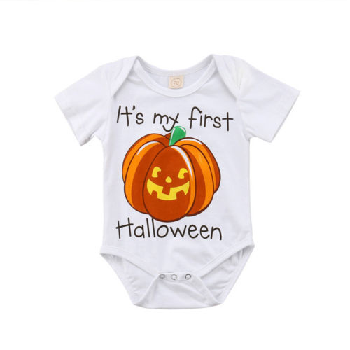 Halloween Pumpkin Baby Boy Girl Outfits Clothes   Romper   Jumpsuit   Rompers   for Girls