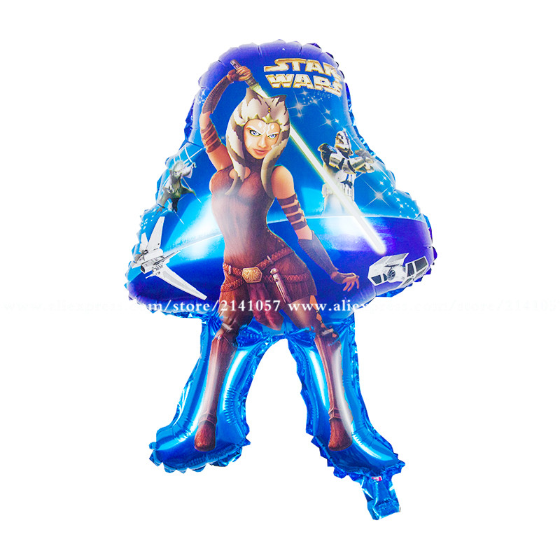 10pcs/lot Hero theme party decoration supplier Hot character star wars shape foi
