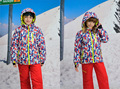 Winter Boys Girls Ski Suit Windproof Camouflage Kids Sports Jackets+Bib Pants 2pcs Children's Clothing Sets