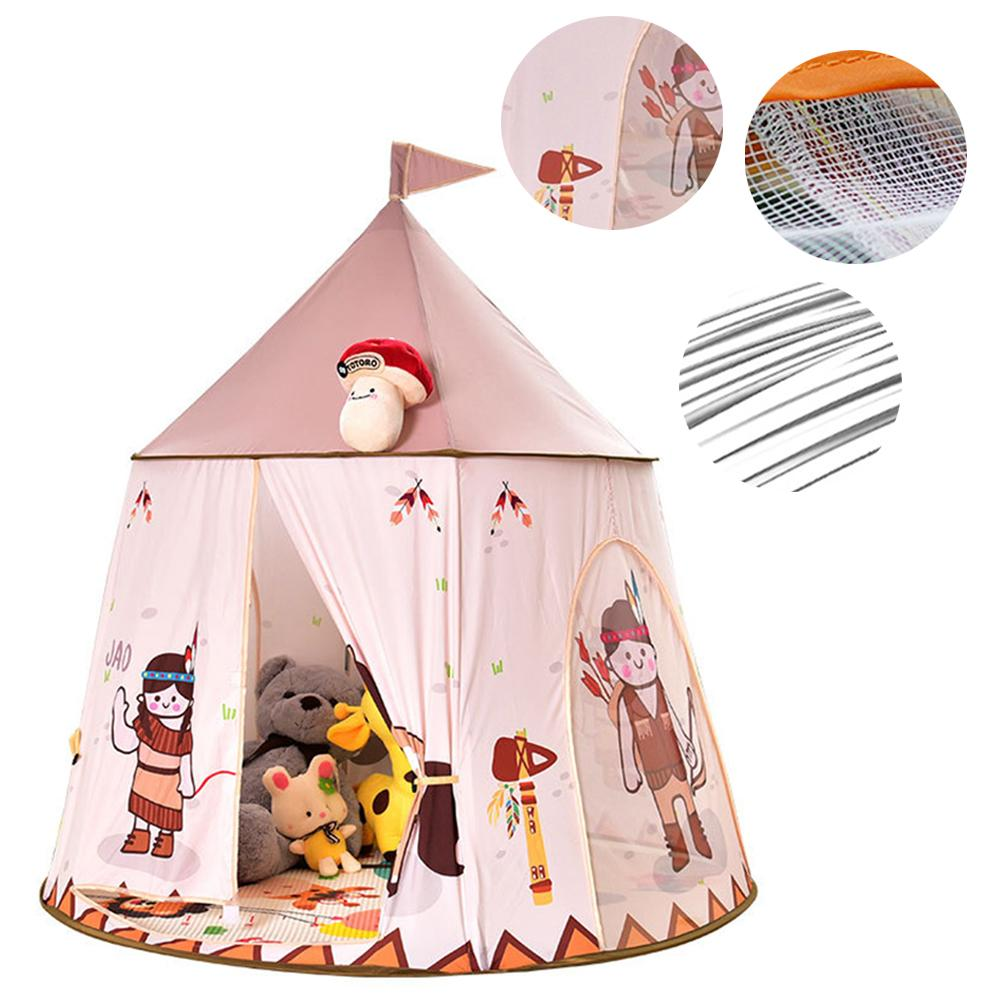 Tente de yourte indienne enfants facile à construire tente sans fond intérieur bébé famille Indie jeu maison pour enfants cadeau d'anniversaire