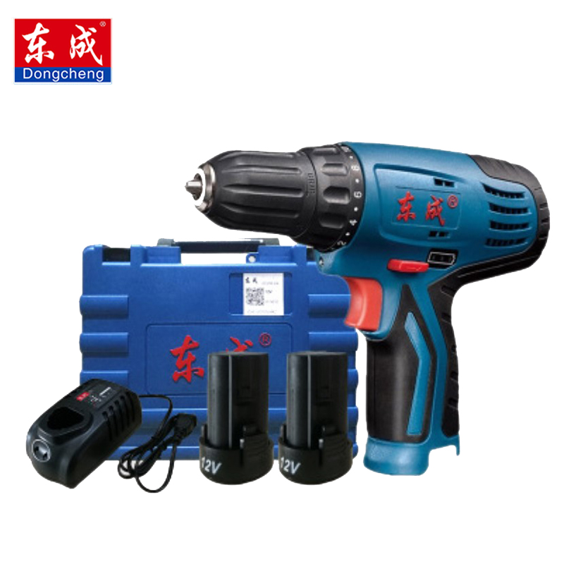 Dongcheng 12V DC Lithium-Ion Battery Cordless Drill/Driver Power Tools Screwdriver Electric Drill with Battery Included image