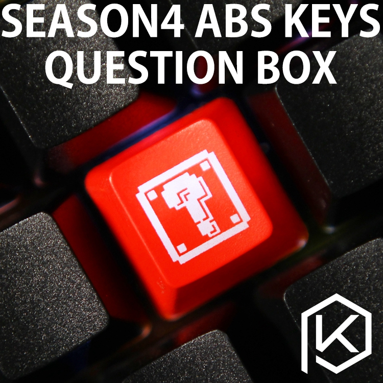 Novelty Shine Through Keycaps ABS Etched, Shine-Through Question  Black Red Custom Mechanical Keyboards
