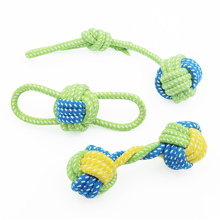 1PCS Puppy Dog Pet Toy Cotton Rope Chew Knot Toys Tooth Cleaning Resistant to Bite Interactive For Training Game
