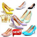 New Sexy Candy colors fashion women spring mouth pointed toe single ol thin high heels princess high-heeled Pumps shoes