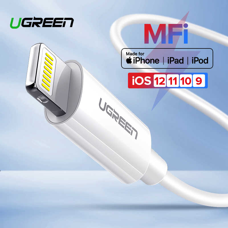 Ugreen MFi Cable USB para iPhone X Xs X Max XR 2.4A de carga rápida USB cargador de Cable de datos para iPhone Cable 8 7 6Plus cable de carga USB