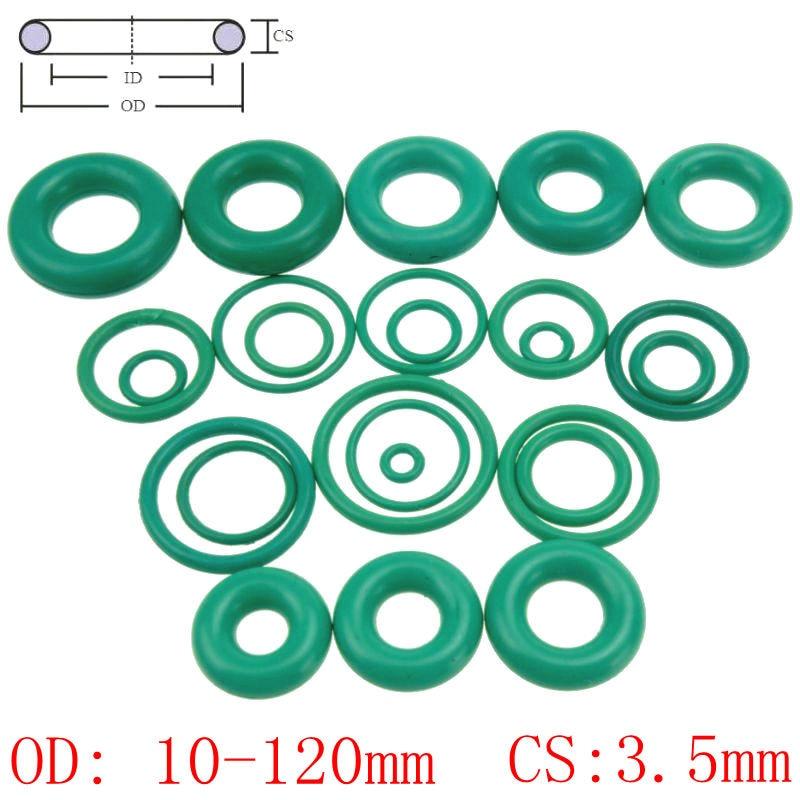 цена на CS 3.5mm OD10-120mm Green Viton FKM Fluorine Rubber O Ring O-Ring Oil Sealing Gasket