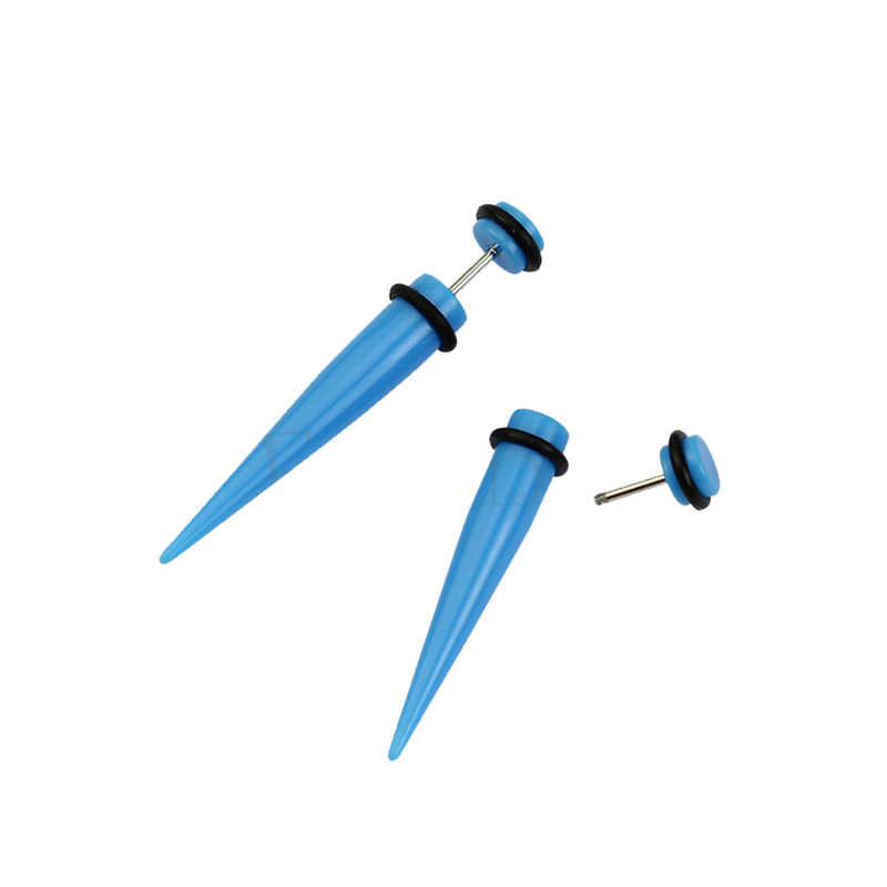 חדש 1 זוג אשליה אוזן מזויף רמאי אלונקה המסמר פיד Plug מנהרת מחוונים W715