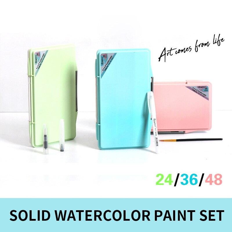 36 48 cor iniciante portatil com cores paleta arte suprimentos 05