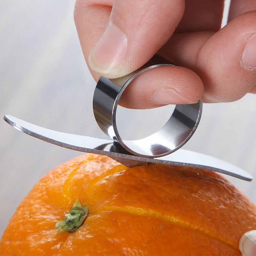 Ze stali nierdzewnej pomarańczowy obierak akcesoria kuchenne z cytryny owoców cytrusowych obierak skóry Remover pomarańczowy Parer do obierania owoców narzędzia kuchenne