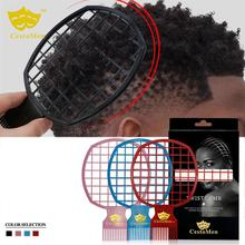 BellyLady 2 In 1 Afro Twist Hair Comb African Mens Hairdressing Wave Curl Brush