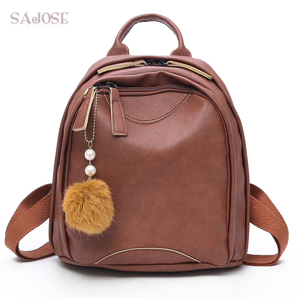 Women High Quality PU Leather School Bag backpack Shoulder Student Bag Female Fashion Vintage Brown Backpacks Drop Shipping high quality doctor dr who tardis police box backpack bag call box pu leather with tag female man shoulder bag