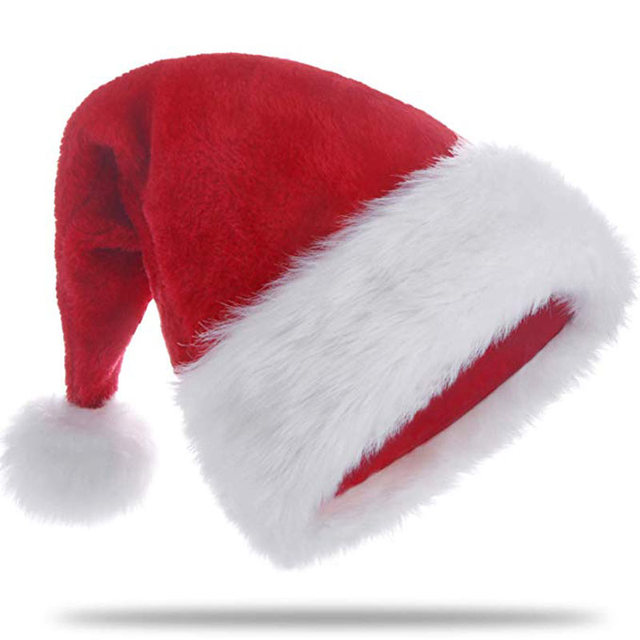 Christmas Hats.Us 9 99 20 Off 3pcs Set Plush Santa Hat Red Velvet Christmas Hat Adults Santa Claus Costume Xmas New Year Party Accessories Photo Props Gifts In