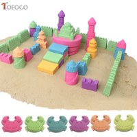 TOFOCO 500g Clay Mud Sand DIY Modeling Clay Soft Plasticine Educational Toy Magic Play Sand Beach