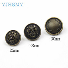 YJHSMY 179262,10pcs/Lot,25/28/30mm classic metal buttons hand diy accessories, clothing accessories, DIY accessories material