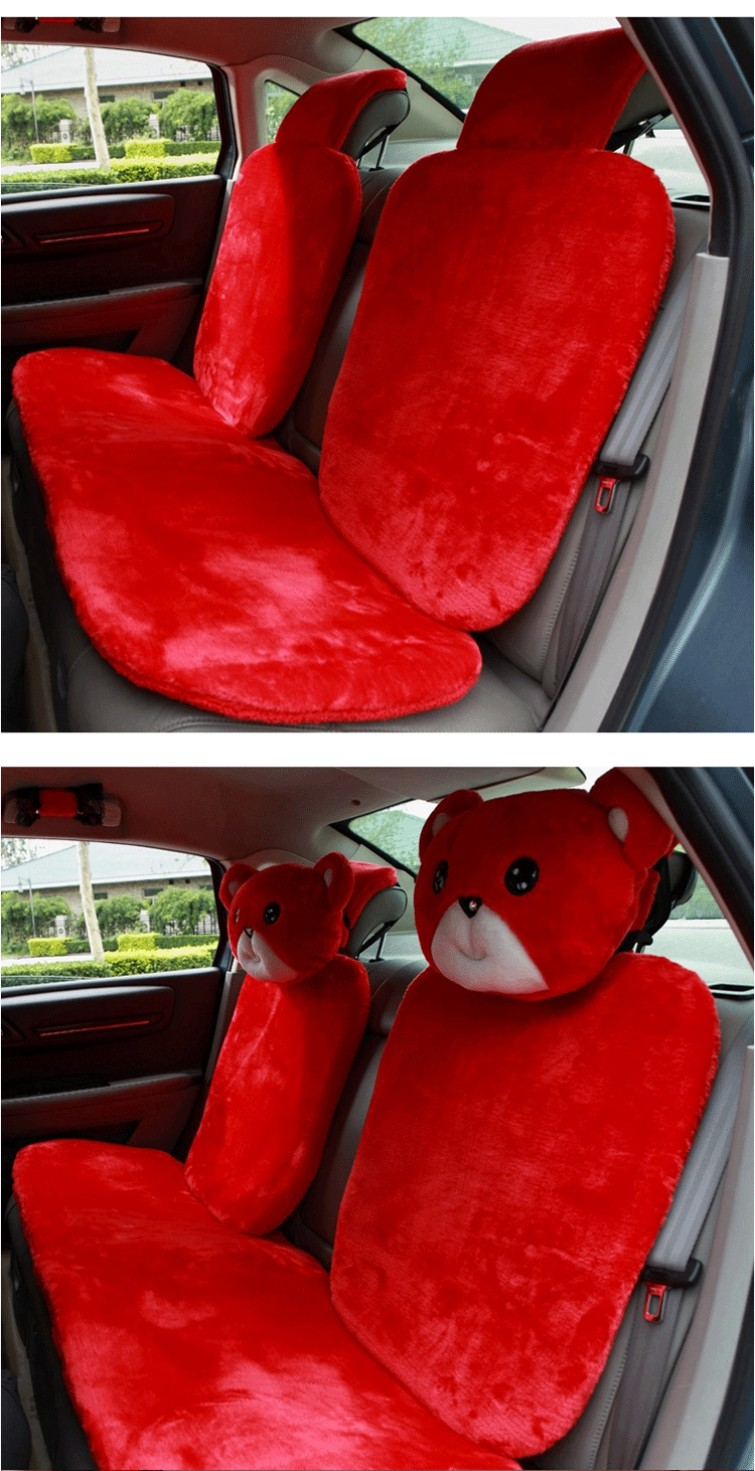 Mei-Mei-Bear-Car-Seat-Cover-Interior-Accessories-Set-Universal-Steering-Wheel-Covers-Milk-Velvet-39
