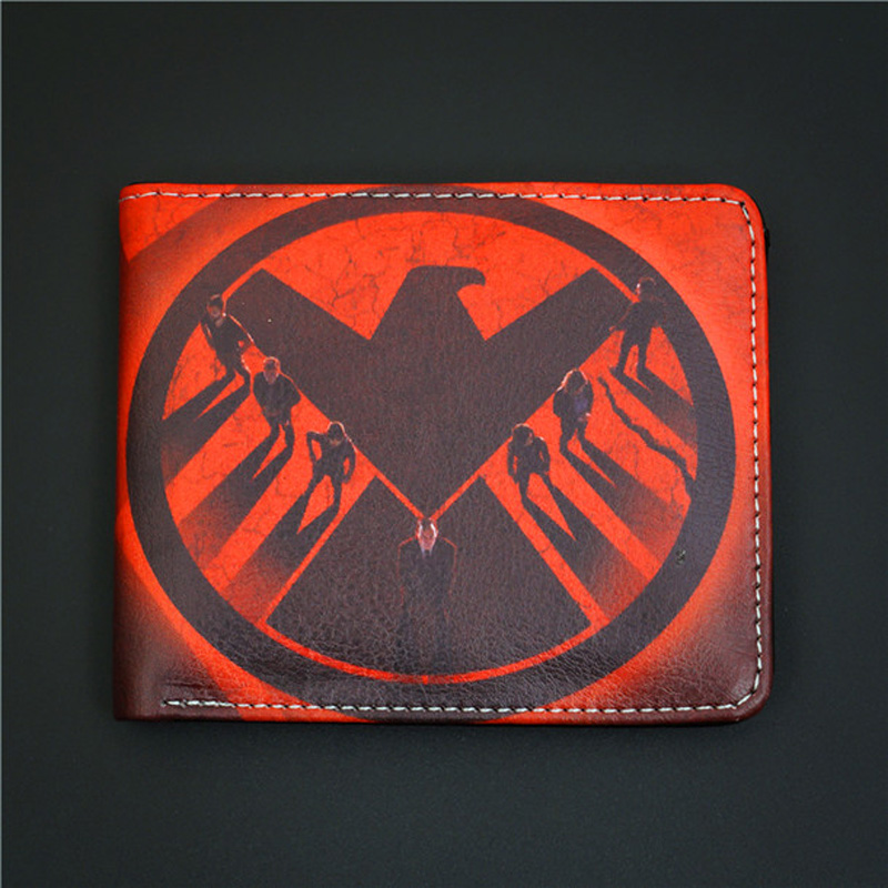 все цены на Comics DC Marvel Wallets Agents of SHIELD Cartoon Anime Creative Purse Plastic Leather Card Holder Bags Men Gift Wallet онлайн