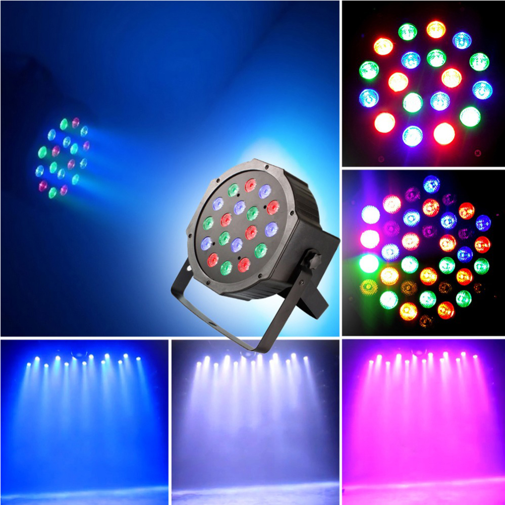 12Par 18Par Home Stage Lighting Effect RGB Led Stage Light Par Light With DMX512 Flat DJ Equipments for Party Disco KTV Bar Club