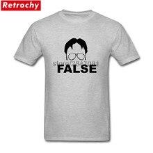 01315f0d5 The Office Dwight Schrute False Tee Men's Retro T-Shirt Round Neck  Fashionable Brand Teeshirts