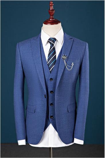 Custom Slim Fit Mens Tailored Suit (Jacket  Pants  Tie) Handsome Men's Suits  Hot Sell Wedding Suits Groom Tuxedo