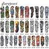 31 Designs 1 Piece Tattoo Full Flower Arm Skull Machine Leg Body Art Decal Waterproof Temporary