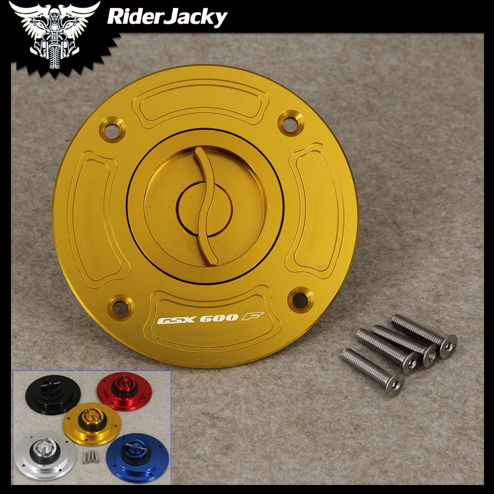 Motorcycle Keyless Motorcycle Gas Cap Fuel Tank Cap Cover For <font><b>Suzuki</b></font> <font><b>GSX600F</b></font> GSX 600F 1998-2001 <font><b>1999</b></font> 2000 image