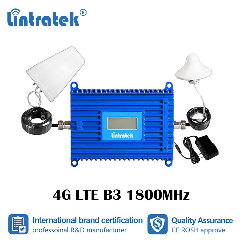 Lintratek 70dB Gain 2G 4G DCS 1800MHz Mobile Signal Booster GSM LTE B3 1800 Cellular Network