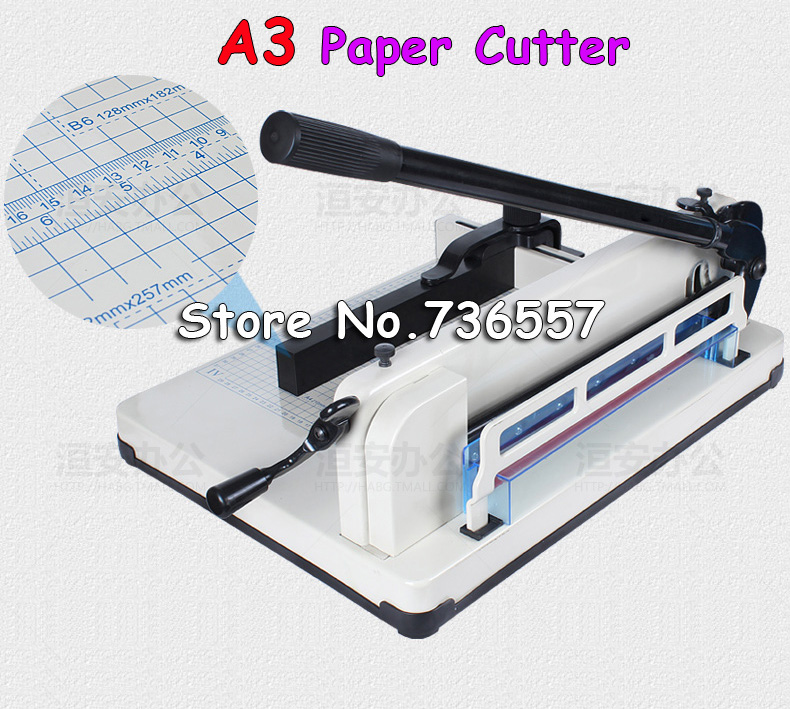 1 PCS New Manual Desktop Stack Paper Cutter Guillotine 858-A3 Cutting Machine visad scissors portable paper trimmer paper cutting machine manual paper cutter for a4 photo with side ruler