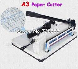 1 PCS New Manual Desktop Stack Paper Cutter Guillotine 858-A3 Cutting Machine