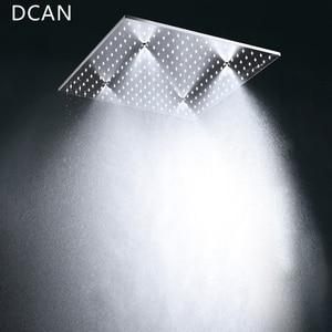Image 3 - Büyük 20 Inç Tavan Tavan LED Yağmur Spa Duş kulaklık Banyo 5 Fonksiyon sıcaklık kontrol cihazı Duş 3 Duvar vücut spreyi